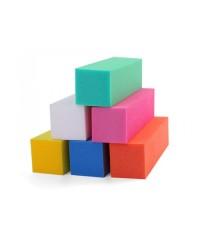 Блок шлифовальный цветной 4-сторонний 150 грит (в ассорт), 1 шт