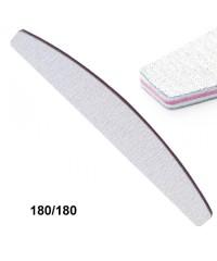 Профессиональная пилка для ногтей 180/180, серая лодка