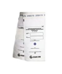 Пакеты бумажные самоклеящиеся белые АЛЬЯНС ХИМ 75х150 мм 100 шт