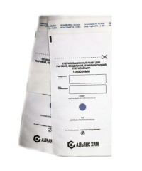 Пакеты бумажные самоклеящиеся белые АЛЬЯНС ХИМ 100х200 мм 100 шт