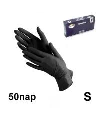 Перчатки нитриловые черные VIOR (50 пар в упаковке), размер S