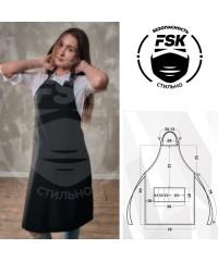 Фартук FSK Габардин черный