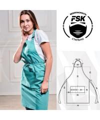 Фартук FSK ТиСи бирюзовый