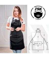 Фартук FSK ТиСи чёрный