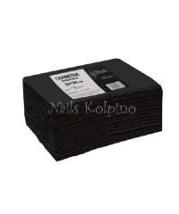 Салфетки из спанлейс одноразовые черные 100 шт 30*30 см White Line
