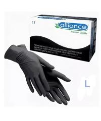 ALLIANCE, Перчатки нитриловые черные (50 пар в упаковке), размер L