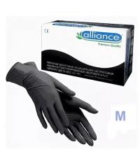 ALLIANCE, Перчатки нитриловые черные (50 пар в упаковке), размер М