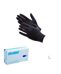 Nitrimax, Перчатки нитриловые неопудренные черные (размер L), 50 пар