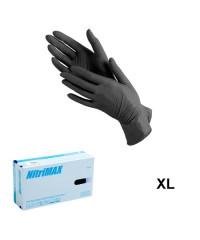 Nitrimax, Перчатки нитриловые неопудренные черные (размер XL), 50 пар