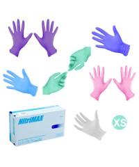 Nitrimax, Перчатки нитриловые цветные (10 пар в упаковке), размер XS