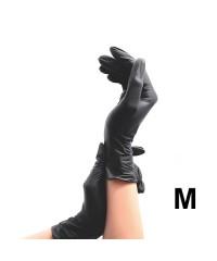 TNL, Перчатки виниловые неопудренные черные (50 пар в упаковке), размер M