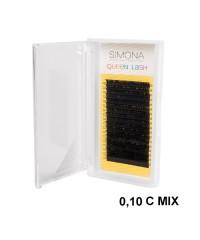 Ресницы на ленте Simona Queen Lash, 18 линий, Ø0,10, С-изгиб MIX