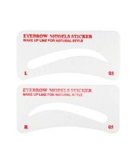 Трафареты для бровей H004-3 тканевые, 3 пары №5