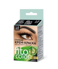 Стойкая крем-краска для бровей и ресниц FITO COLOR (чёрная)