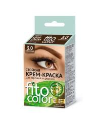 Стойкая крем-краска для бровей и ресниц FITO COLOR (коричневая)