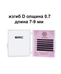Черные ресницы Enigma микс 0,07 изгиб D 7-9 мм (6 линий)