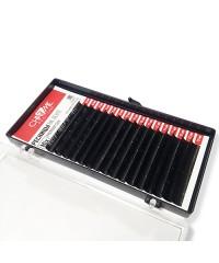 """Ресницы на ленте черные CHARME """"PREMIUM Silk"""" изгиб C толщина 0,10 длина 10 мм 16 линий"""