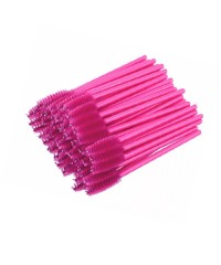 Набор Одноразовых щеточек для ресниц и бровей розовые, 50шт