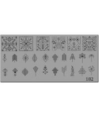 Пластина для стемпинга металлическая на пластиковой основе 12x6 см №180