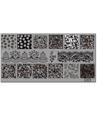 Пластина для стемпинга металлическая на пластиковой основе 12x6 см №183