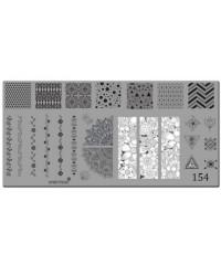 Пластина для стемпинга металлическая на пластиковой основе 12x6 см №154