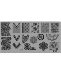 Пластина для стемпинга металлическая на пластиковой основе 12x6 см №157