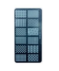 Трафарет металлический для стемпинга, 6x12 см, № 01