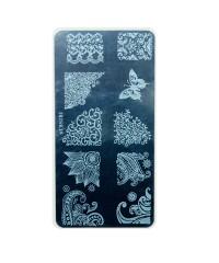 Трафарет металлический для стемпинга, 6x12 см, № 19
