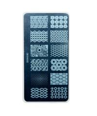 Трафарет металлический для стемпинга, 6x12 см, № 02