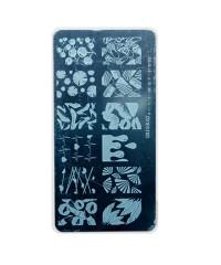 Трафарет металлический для стемпинга, 6x12 см, № 07