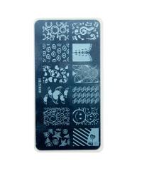 Трафарет металлический для стемпинга, 6x12 см, № 08