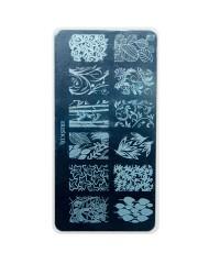 Трафарет металлический для стемпинга, 6x12 см, № 10