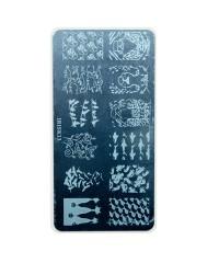 Трафарет металлический для стемпинга, 6x12 см, № 13